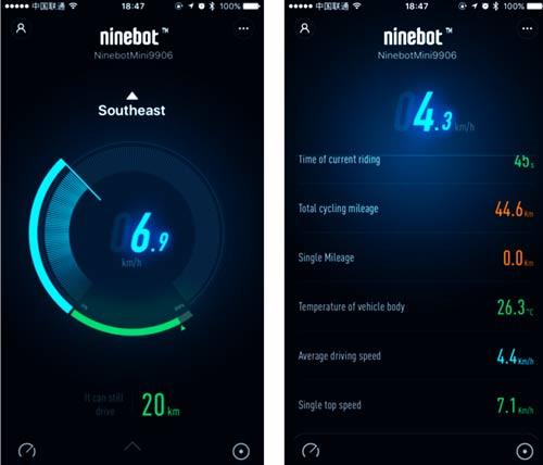 Ninebot Mini pro application mobile