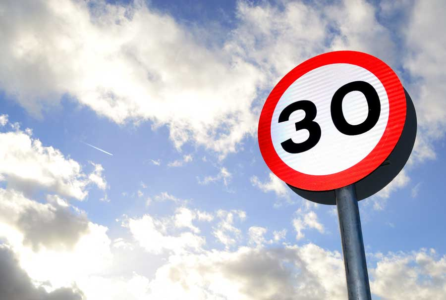 circulation voie 30 kilomètres heure