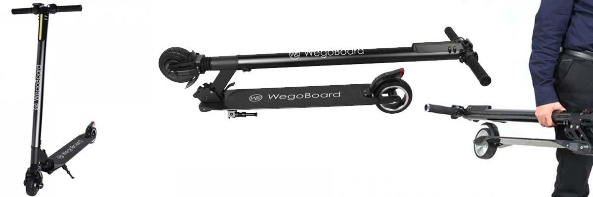 wegoboard booster, trottinette électrique plus légère