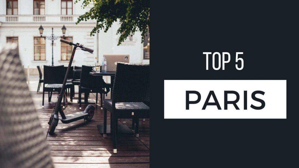 Magasins de trottinettes : top Paris
