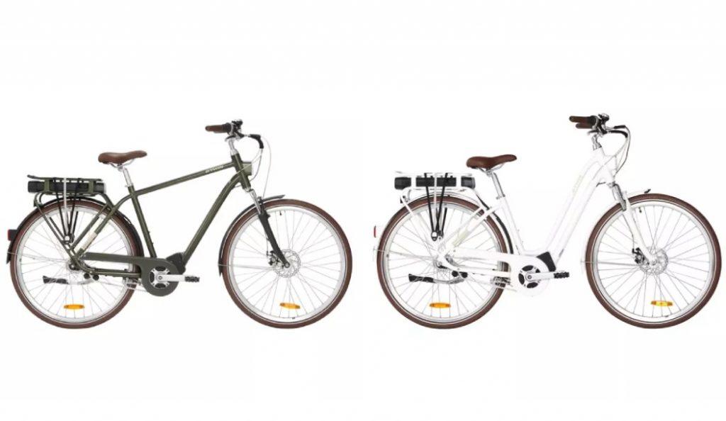 Les deux coloris du vélo électrique Decathlon Elops 920